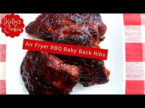 BBQ Baby Back Ribs Recipe Done In The Air Fryer-Cook's Essentials
