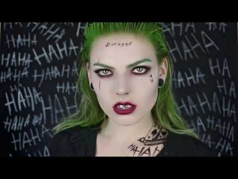 FEMALE JOKER MAKEUP HALLOWEEN TUTORIAL | suicide squad