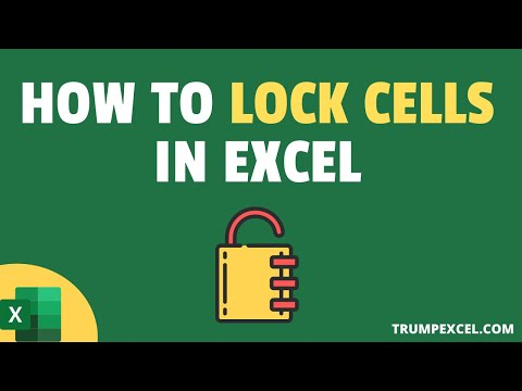 How to Lock (Protect) Cells in Excel
