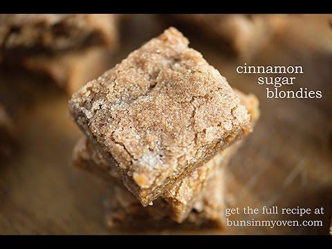 How To Make Cinnamon Sugar Blondies - an easy, one bowl recipe!