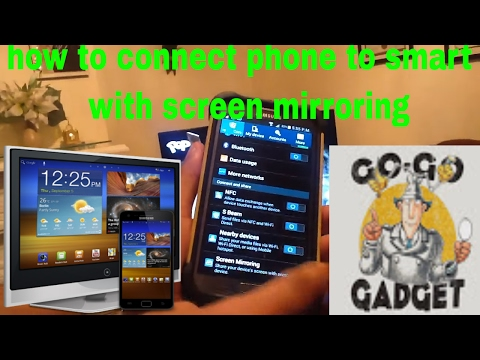 How to connect phone to smart tv .... With screen mirroring