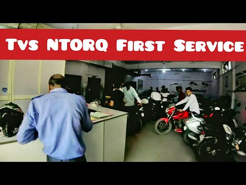 Tvs NTORQ First service | First Service Cost | What they Do in the First service?