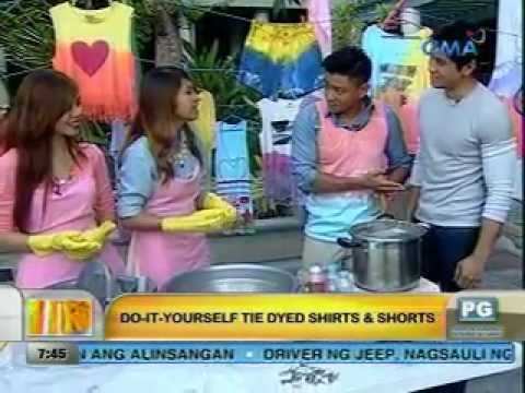 Unang Hirit: Do-It-Yourself Tie Dyed Shirts and Shorts
