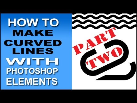 Curved Lines In Photoshop Elements Part 2