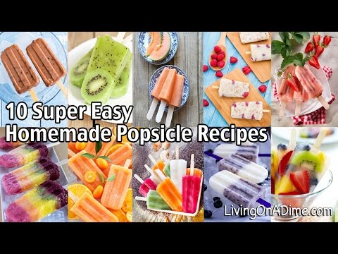 10 Super Easy Homemade Popsicle Recipes