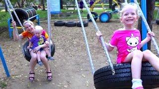 KIDS ВЛОГ: Идем в Красивый парк с детской площадкой поднимаемся на самый высокий этаж детское видео