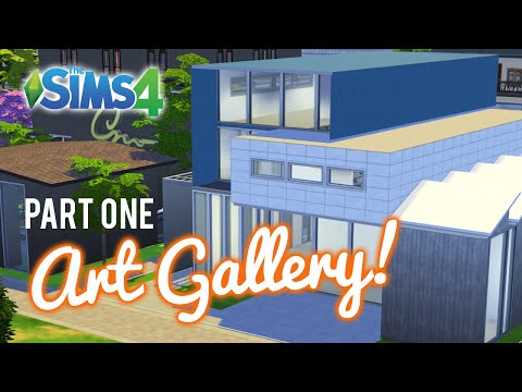 The Sims 4 Let's Build an Art gallery and Studio — Part 1
