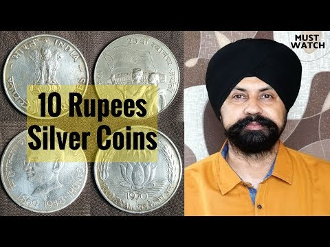 10 Rupees Silver Commemorative Coins