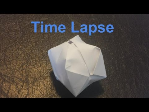 How to Make a Paper Balloon A.K.A. The Water Bomb (Time Lapse)