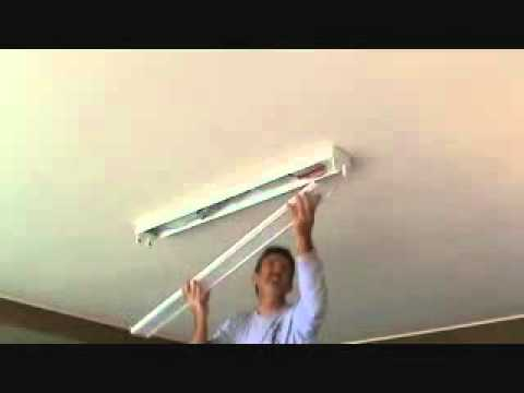 How to install a surface mounted fluorescent light fixture...Part 6