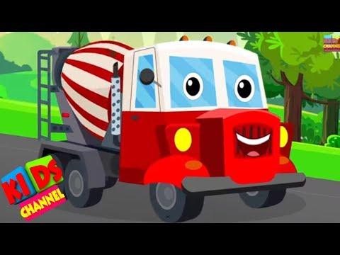 Concrete mixer truck   vehicle songs   original songs for kids