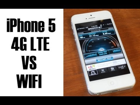 iPhone 5 4G LTE Speed Test (vs. Home Wifi)