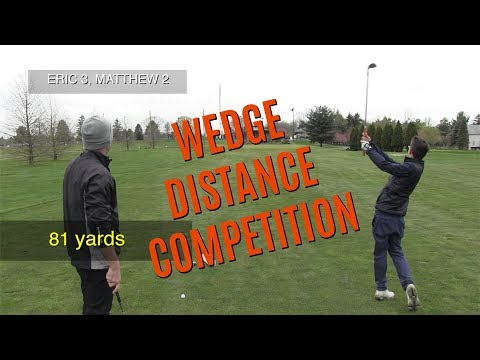 GOLF: Wedge Distance Competition 30-90 Yards