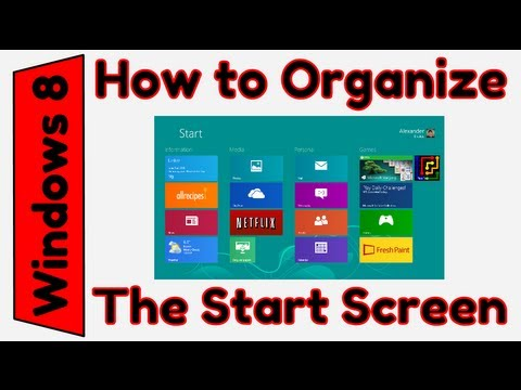 How to Customize the Windows 8 Start Screen