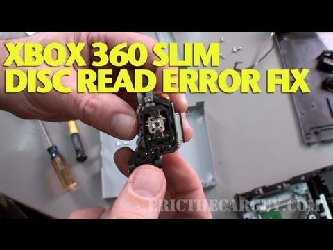 Repairing Xbox 360 Slim Disc Read Error -EricTheCarGuy