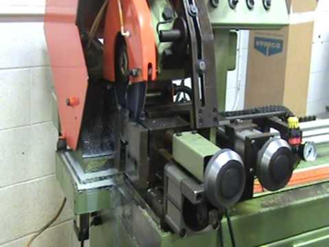 Scotchman HFA Auto Saw Cutting Threaded Rod