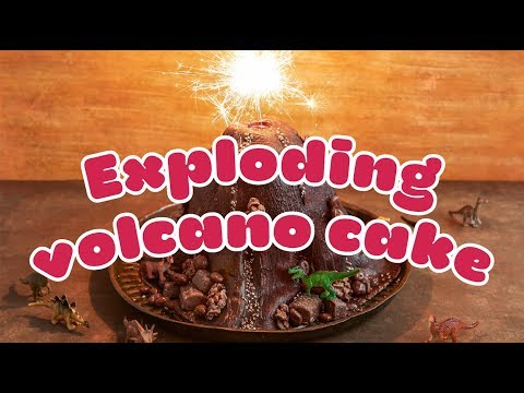 How to make an EXPLODING volcano cake 🌋 - BBC Good Food Kids