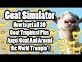 Goat Simulator: All 30 Trophy Locations, Angel Goat, Around the World