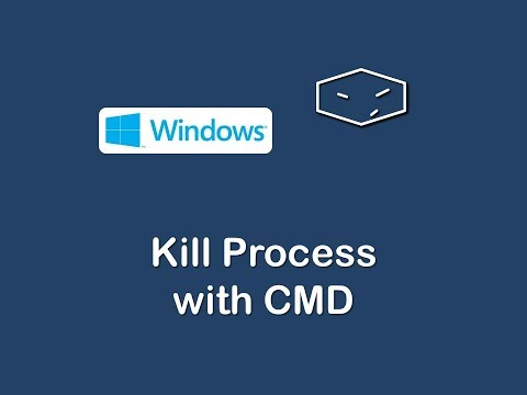kill process with cmd in windows