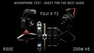 Quest to find the best audio setup for the Fujifilm X T2