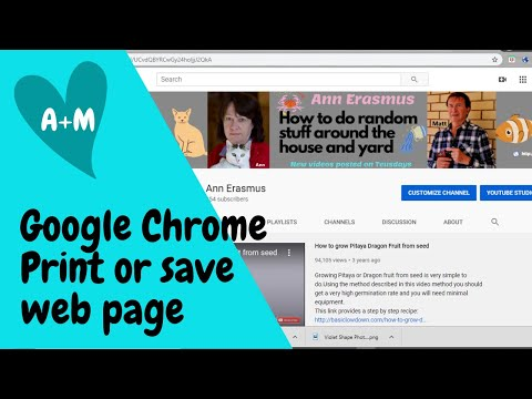 How to print or save a webpage with Google Chrome