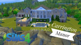 Dynasty Carrington Manor | Sims 4 Speed Build | Part 1 (NO CC)