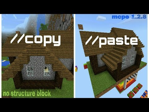 COPY PASTE TRANSFER STRUCTURES BUILDINGS ETC FROM A WORLD TO ANOTHER WORLD [MCPE 1.2]