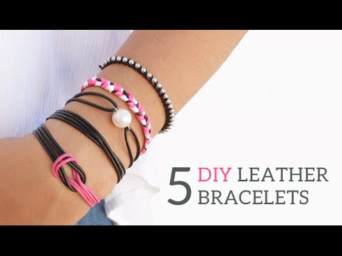 5 DIY Friendship Leather Bracelets | Curly Made