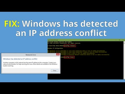 FIX: Windows has detected an IP address conflict