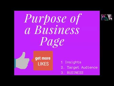LIKE PAGE- Getting Started with a FB Business Page