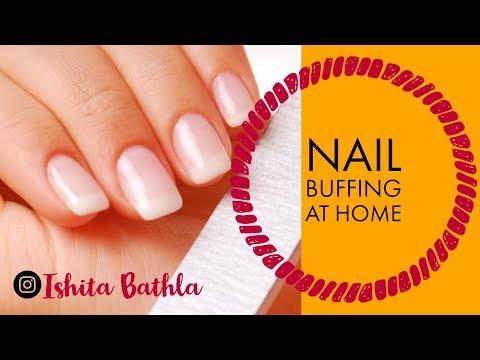 Nail Buffing at Home | How to get Shiny Nails | Ishita Bathla