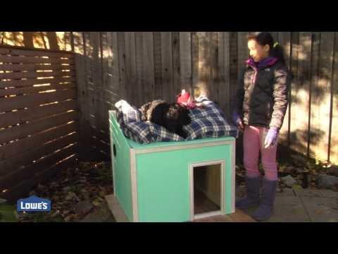 DIY Dog House + Free Plans