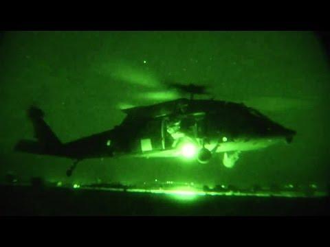 Night Vision – Military MEDEVAC Helicopter Night Flight And Hoist Training