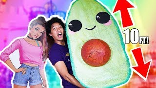 DIY WORLDS LARGEST SQUISHY! HOW TO MAKE AVOCADO SQUISHY!
