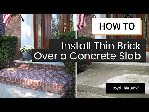 Installing Thin Brick Veneer Outdoor