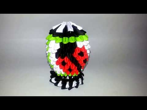 3D ORIGAMI EASTER EGG WITH LADYBIRDS. TUTORIAL