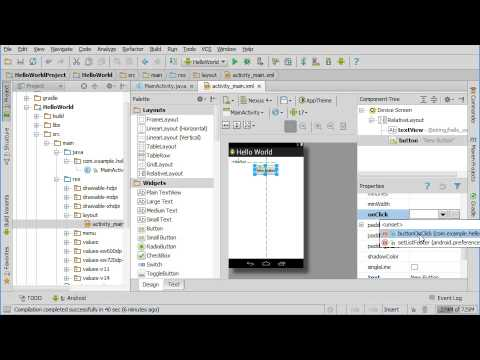 Adding Code to a Button Click in Android Studio