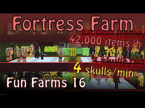 Cheap and Effective Wither Skeleton and Fortress Farm [Fun Farms 16]