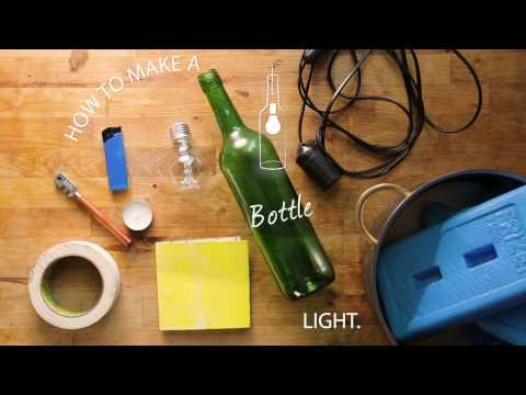 How To: Wine Bottle Light