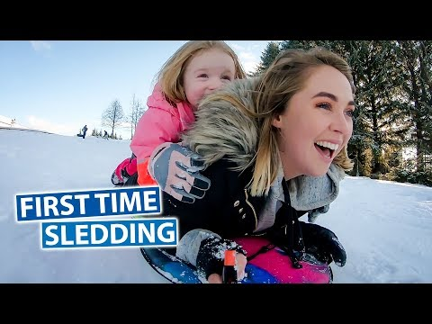 First Time Sledding | Canada Vlog
