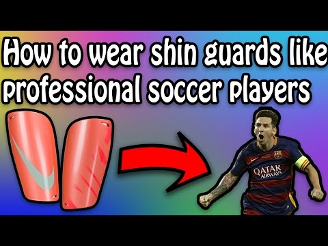 How to Wear Your Shin Guards Like a Professional Soccer Player! Bale & Suarez