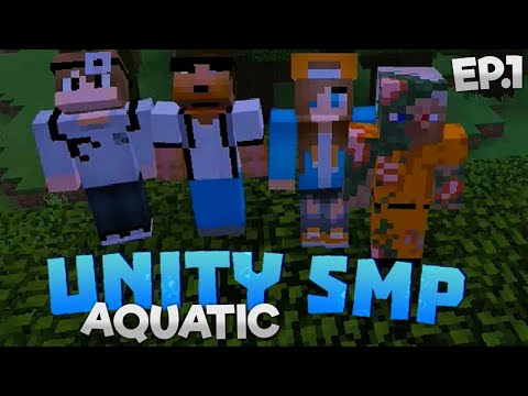A BRAND NEW JOURNEY!! - Unity SMP Aquatic EP.1 - Minecraft (PE/Win10)