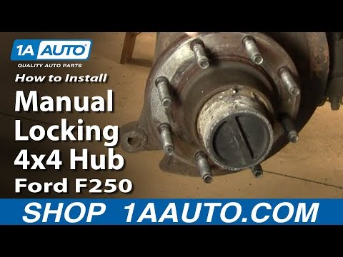 How to Install Replace Manual Locking 4x4 Hub Ford F250 Super Duty 99-04 1AAuto.com