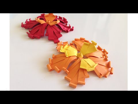 Quilling Flower using a Hair Comb