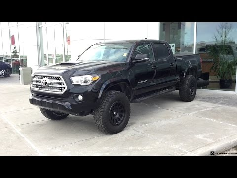 Lifted 2017 Toyota Tacoma Double Cab TRD Sport on 275/70R17 Tires