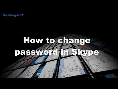 How to change password in Skype