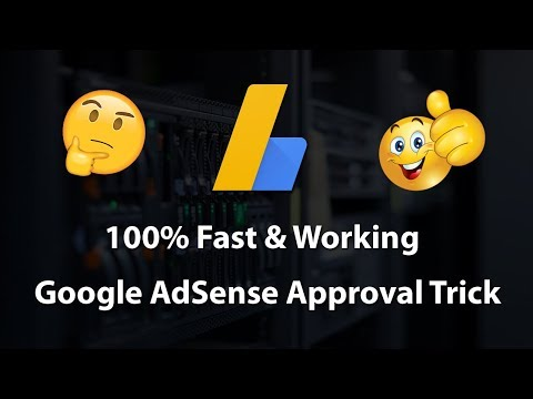 [100% Fast & Working] Google AdSense Approval Trick For Website & Blog 2018