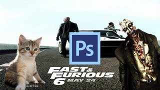 (FAST & FURIOUS) Photoshop CS6 Tutorial - How To Cut Out Images