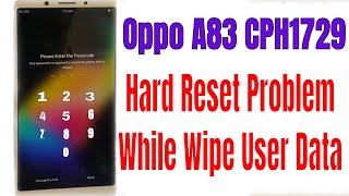 Oppo A83 (CPH1729)easy frp lock bypass 5 min remove google account