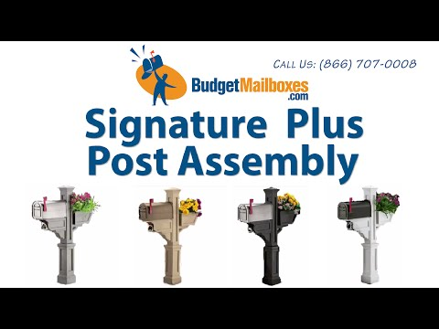 BudgetMailboxes.com | Mayne Post | Signature Plus Mail Post Assembly